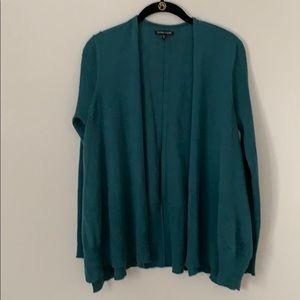 Eileen Fisher 100% wool open front sweater.